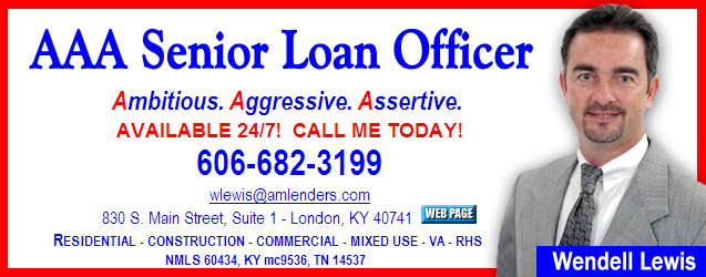 aaa senior loan officer, 830 S. Main St., Suite 1, London, KY 40741, Residential, Construction, Commercial, Mixed Use, VA, RHS, Loans, NMLS 60434, KY mc9536, TN 14537