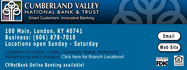 cumberland valley national bank corbin kentucky