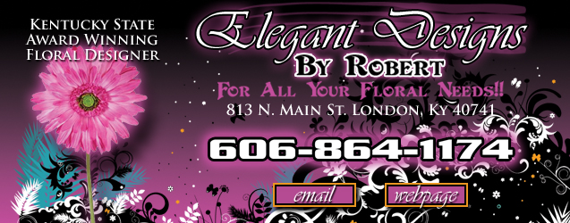 Elegant Designs Floral By Robert, london, ky, florist, flowers, plants, weddings, funerals, vases, silks, botanicals