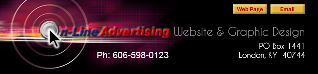 On-Line Advertising, London, KY, Kentucky, Web Design and Hosting, Domain Names, advertising agency, graphic design
